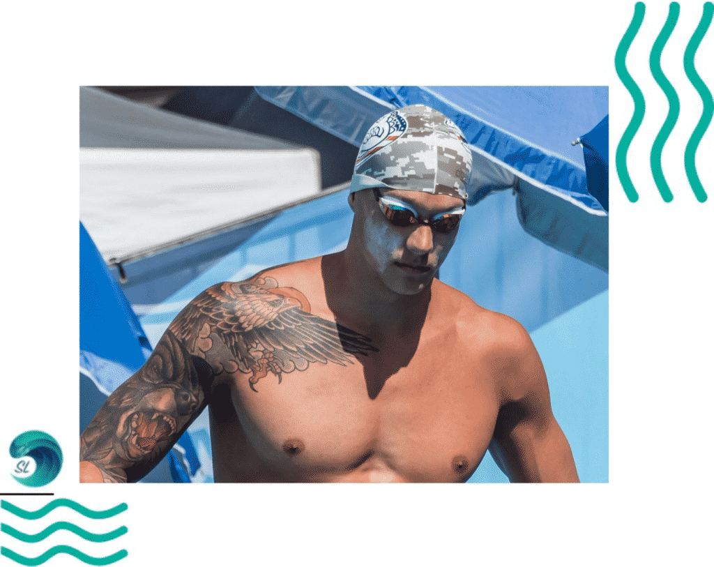 Татуировки у пловцов. Калеб Дрессел